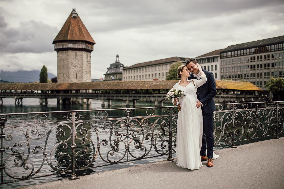 Heiraten Luzern vor Kapellbrücke